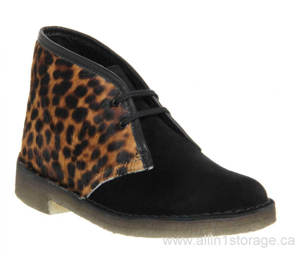 Clarks Originals mujer  Desert bota Animal Leopard Print  UK 3.4,5,6,7,8 C