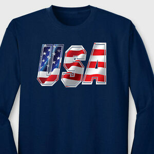 Usa patriotic flag red white and blue t shirt stars and for Red and blue t shirt
