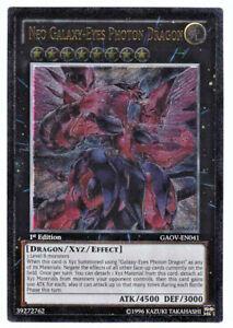 YUGIOH • Neo Galaxy-Eyes Photon Dragon 1ST ED ULTIMATE RARE GAOV-EN041 NMINT
