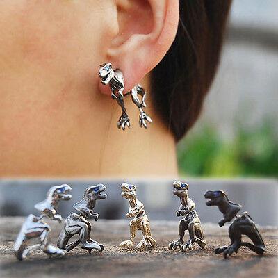 Hot Cool Punk Rock Temptation Alloy Dinosaur Dragon Ear Cuff Wrap Clip Earrings