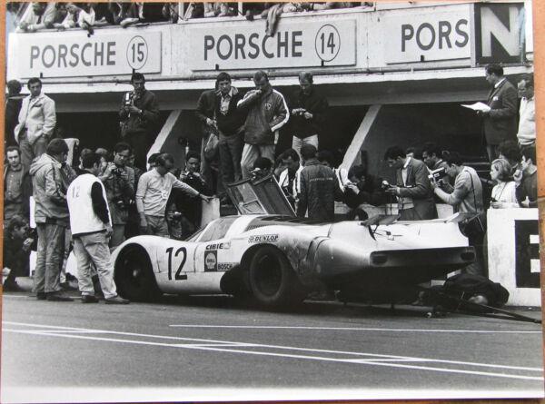 407 . 1 X Photo . Porsche . Format : 18 X 24 Cm . Tres Bel Etat .