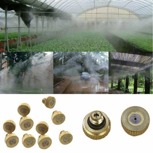 10pcs Threaded Brass Water Fog Mist Nozzle Misting Fogging Spray Sprinkler Head