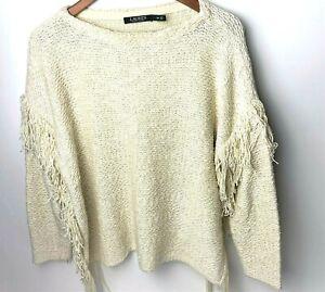 Lauren-Ralph-Lauren-Womens-Ivory-Soft-Blend-Knit-Pullover-Sweater-sz-S-Small