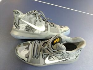 ff71399a4782 NIKE Promo Sample Kyrie Irving 3 EYBL Gray camo Basketball Shoes M ...