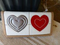 Brighton Art Heart Leather Lg. Wallet