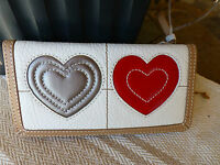 Brighton Art Heart Leather Lg. Wallet