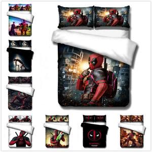 3D-Deadpool-Kids-Bedding-Set-Anime-Hero-Duvet-Cover-Pillowcase-Comforter-Cover