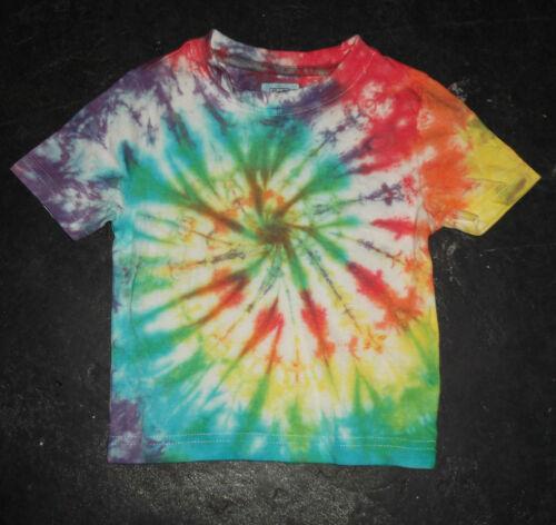 Festival Kid/'s rainbow Tie Dye T shirt Hippy Children/'s Age 1-13