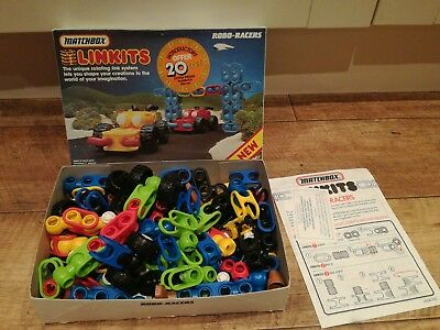 Vintage Matchbox Linkits Robo Racers Kit With Extra Parts Instructions FREE POST