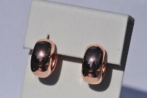 Echt-925-Sterling-Silber-Ohrringe-Creolen-rosegold-Nr-319