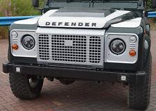 Black front BUMPER 4 Round LED DRL Land Rover Defender SVX Twin Quad Day Running