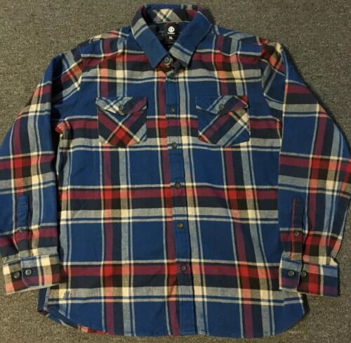 Vtg Element Skateboards Flannel Shirt XL Bam Marg… - image 1
