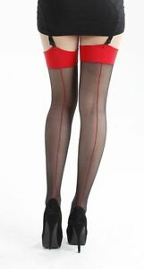 You black seamed stockings can speak
