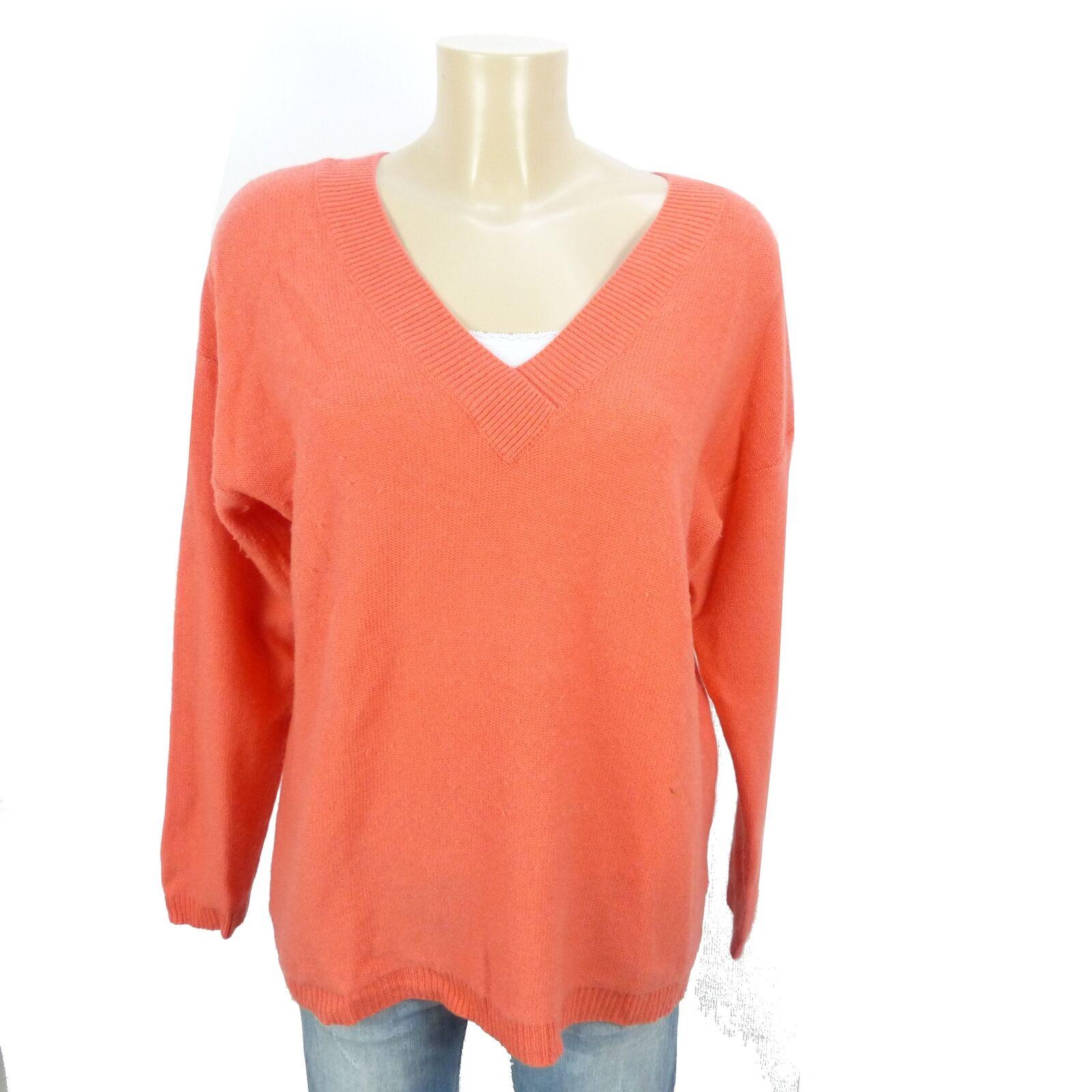Juvia pullover knit CASHMERE LANA OverDimensione OverDimensione OverDimensione Arancione Taglia M 38 (bi256) bfa4a5