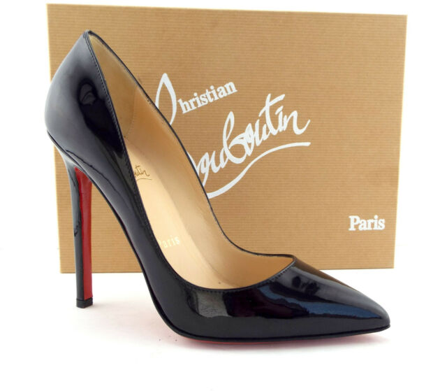 size 40 975bc 8cc43 Christian Louboutin Size 5 Pigalle Black Patent HEELS PUMPS Shoes 35
