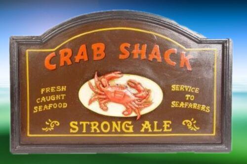 Reklame maritimes Werbeschild Crab Shack Speisen Ale antik Rarität Vintage Deko
