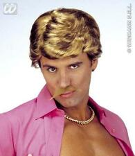 New Light Brown Casanova Wig With Moustache George Michael Wham Fancy Dress