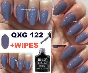 Image Is Loading Bluesky Qxg122 Blue Grey Subtle Lilac Purple Nail