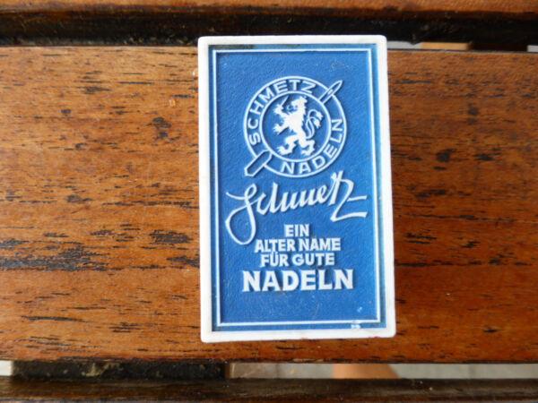 Alte Schachtel Dose Für Nähmaschinennadeln Nähmaschine Schmetz Nadeln