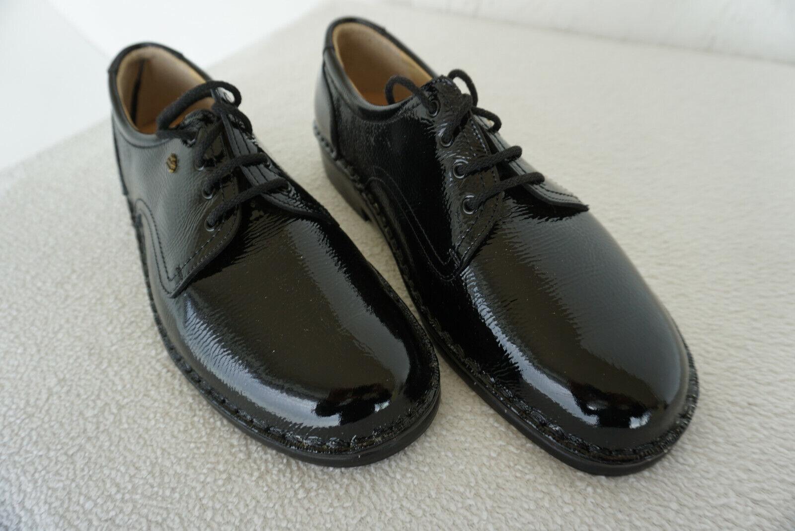 FINN COMFORT Colmar Herren Schuhe Schnürschuhe Gr.9   43 schwarz Lack Leder NEU