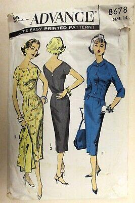 Advance 8171 Vintage 1950/'s Couturier Cocktail Dress Pattern Absolutely Fabulous Mr John Designer Sheath Dress Pattern Size 16 Bust 36