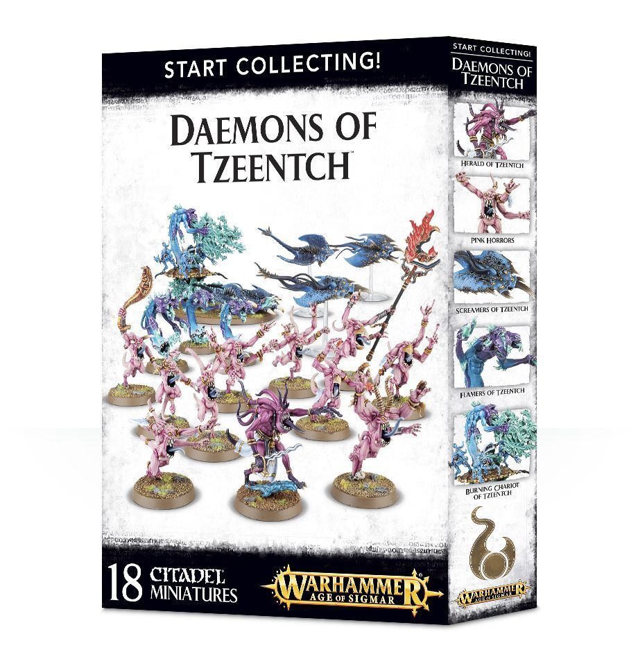 START RACCOLTA Daemons of Tzeentch Games OFFICINA Age of sigmar chaos DEMONI