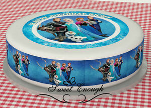 FROZEN Disney Edible Image Icing Strips Sides Birthday Cake Topper