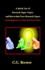 A Quick List of Research Paper Topics and How to Start Your Research Paper :...