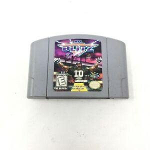 NFL-Blitz-Nintendo-64-1997-N64-Football-Authentic-Tested-Cartridge-Game