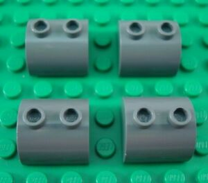 LEGO Lot of 4 Red 2x2 Round Dome Top Brick Pieces