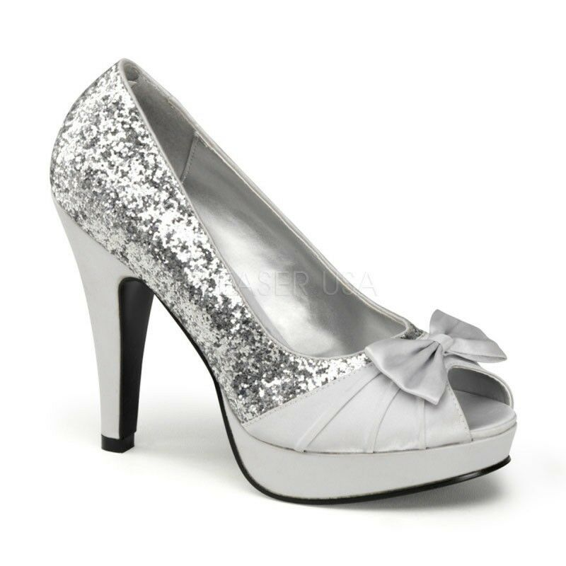 PinUp Couture High-Heels Pumps Bettie-10 silber