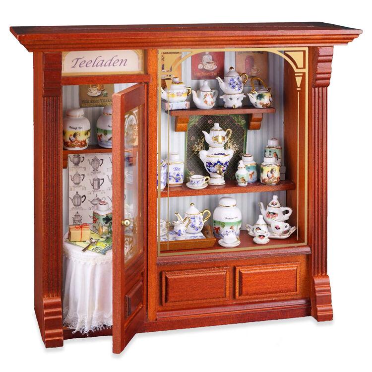 Reutter Porzellan Teeladen Nuovo Tè Negozio Display Murale Puppenstube 1:12