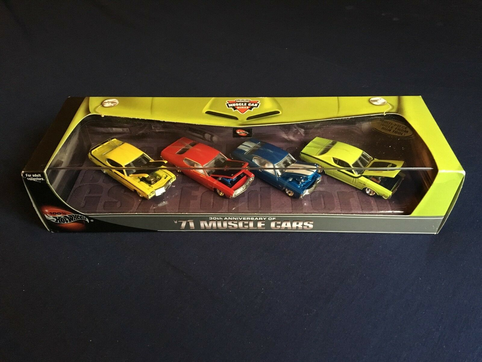 Hot Wheels 100% 30th Anniversary '71 Muscle Cars Set Of 4 Cars NIB