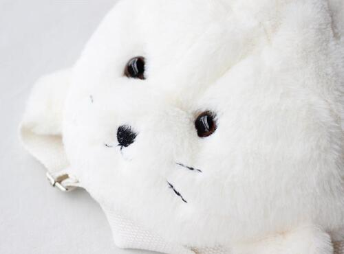 Amo Amuse Seal Sea Dog Sac à dos Sac à main Lolita Cute Plush Jouet Fille étudiant Blanc