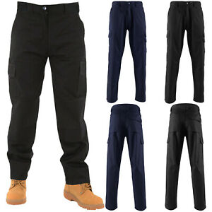 9382edc929 MENS CARGO COMBAT WORK TROUSERS KNEE PAD POCKETS WORKWEAR BOTTOMS ...