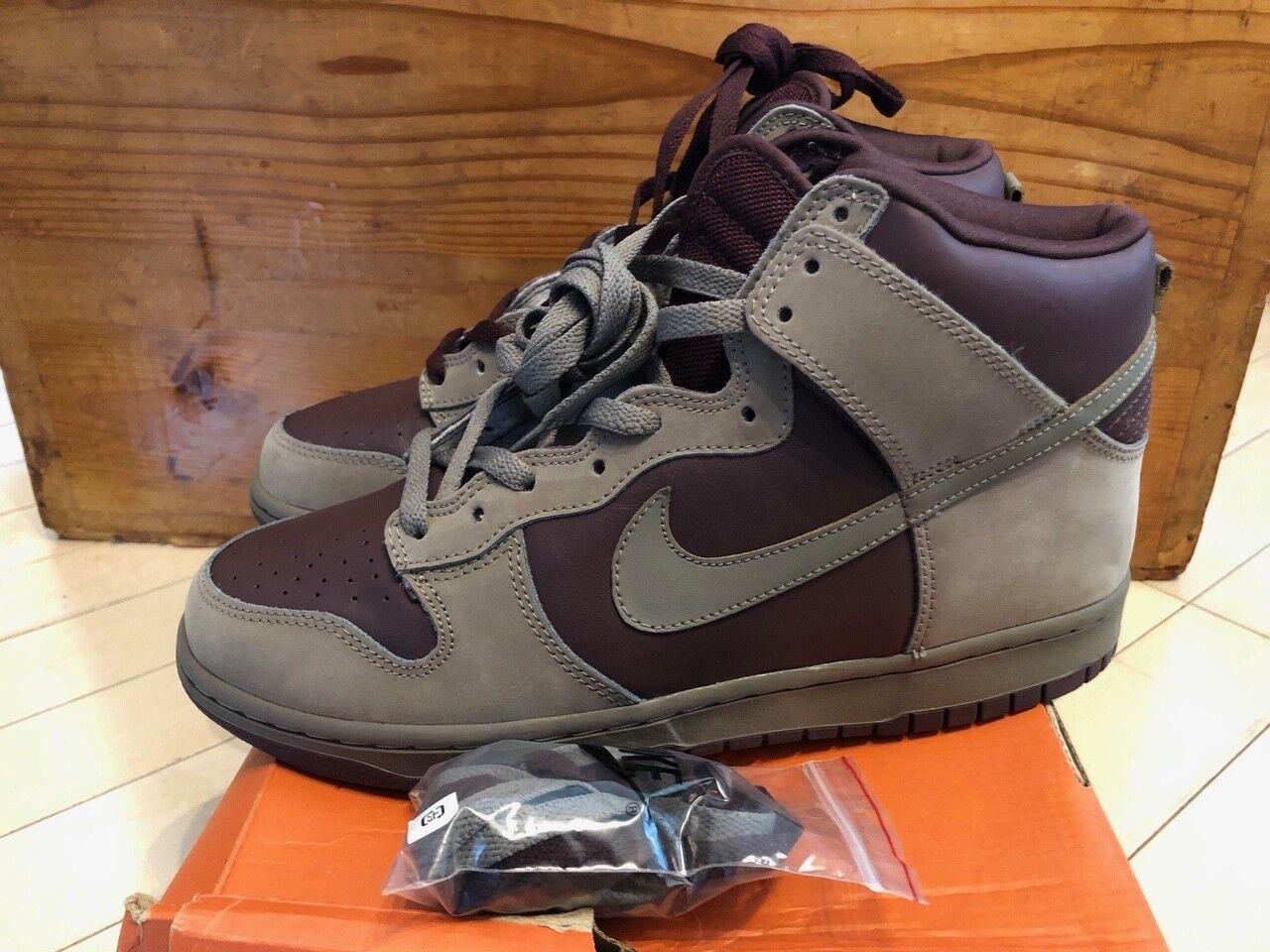 192f6350b00c1 2003 Nike Dunk High Iron Iron Iron Grey Mahogany size 10 593c85 ...