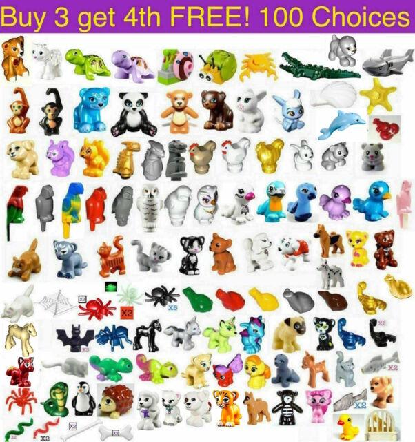 GIFT SELECT QTY NEW LEGO ANIMALS CHIMPANZEE // MONKEY W// REDDISH BROWN FACE