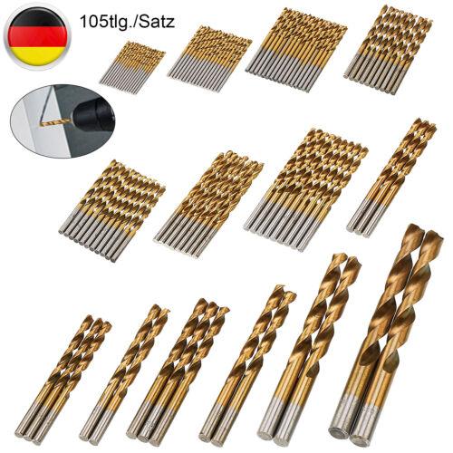 105x HSS Cobalt Spiralbohrer 1,5-10mm Bohrer Metallbohrer Stahlbohrer Bohrer-Set