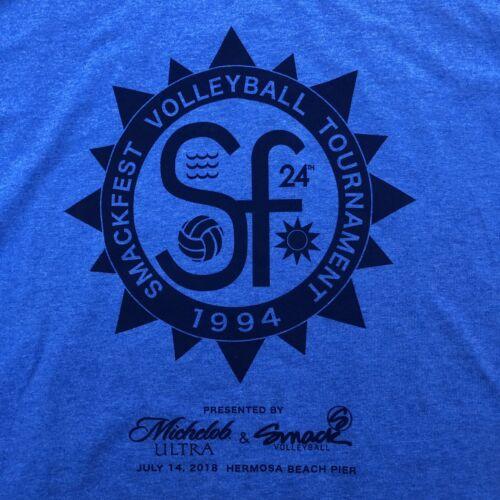 2018 SMACKFEST BEACH Volleyball Tournament Hermosa Beach • Men/'s T-Shirt MEDIUM