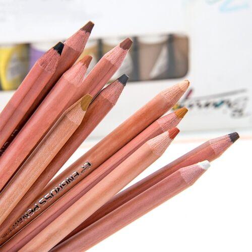 Skin Tints Soft Pastel Pencils Natural Colour Portrait Drawing Painting 12 Pcs