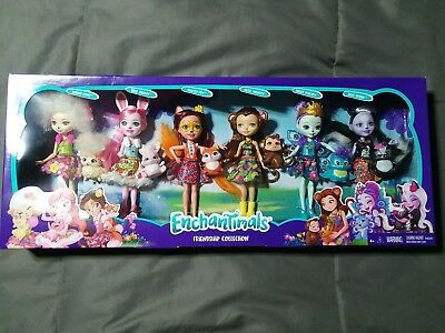 Enchantimals Friendship Collection Gift Set pack of 6 Dolls /& 6 Animal Pets