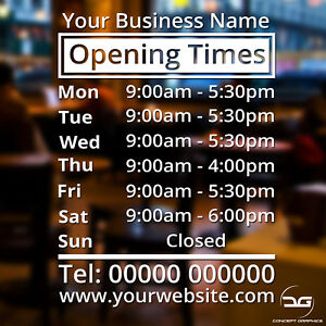 Shop-Window-Opening-Hours-Times-Customised-Personalised-Sign-Vinyl-Decal-Sticker