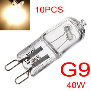 10pcs-Bright-G9-Halogen-Capsule-Light-Bulb-40W-Warm-White-Clear-Lamp-12V-24V