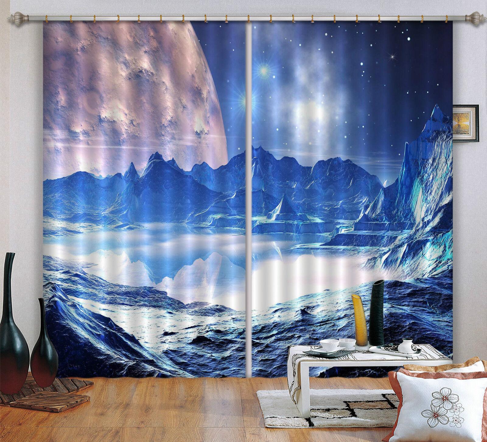 3d Planet vista 61 bloqueo foto cortina cortina de impresión sustancia cortinas de ventana