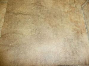 "Leather 8""x10"" Distressed Artison Tie Dye Creamy CAMEL Cowhide 3oz / 1.2mm"