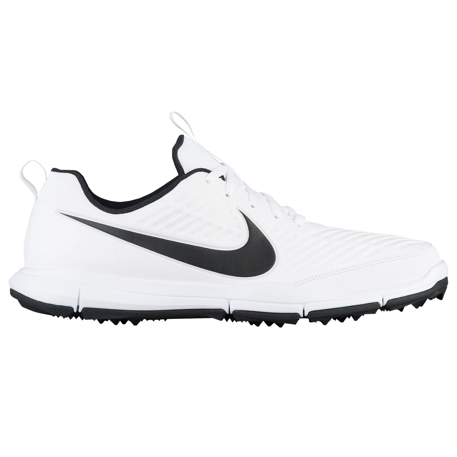 Nike explorer 2 uomini 849957-100 bianco nero golf acqua repellente scarpe da golf nero numero 13 abf912