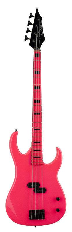 Dean CZONE Bass FLP Personalizado Zone Bajo Guitarra Tilo Tilo Tilo cuerpo Fluorescente rosado Nuevo fcfa6c