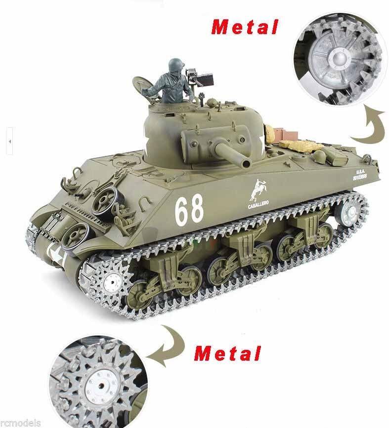 Heng long  Sherman 2.4G radio remote controlled tank 1 16 Upgraded Version  UK