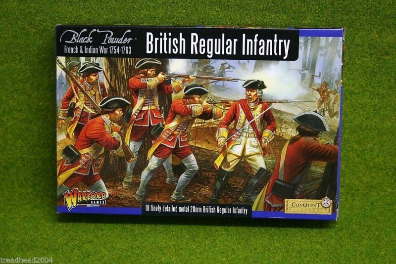 French & Indian Wars BRITISH REGULAR INFANTRY Warlord Games 28mm