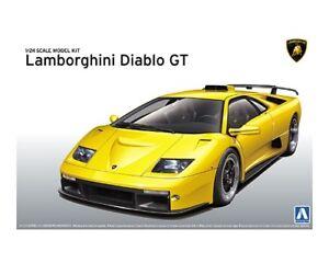 Aoshima 1 24 Lamborghini Diablo Gt Plastic Model Kit 010501 Ebay